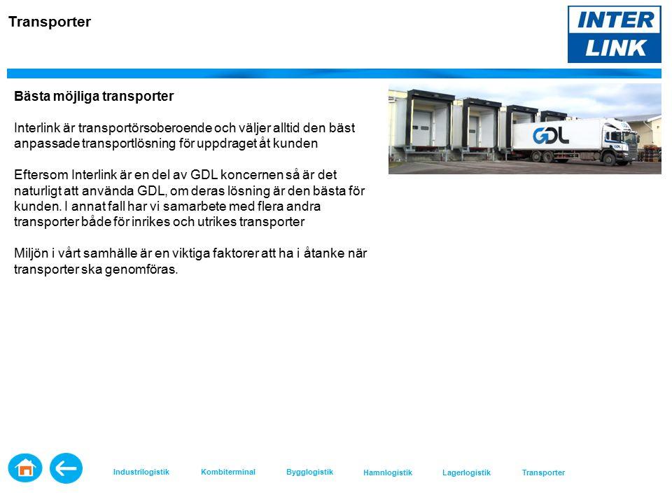 Bästa möjliga transporter Interlink är transportörsoberoende och väljer alltid den bäst anpassade transportlösning för uppdraget åt kunden Eftersom Interlink är en del av GDL koncernen så är det naturligt att använda GDL, om deras lösning är den bästa för kunden.