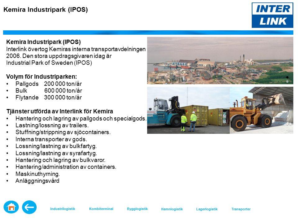 Kemira Industripark (IPOS) Interlink övertog Kemiras interna transportavdelningen 2006.