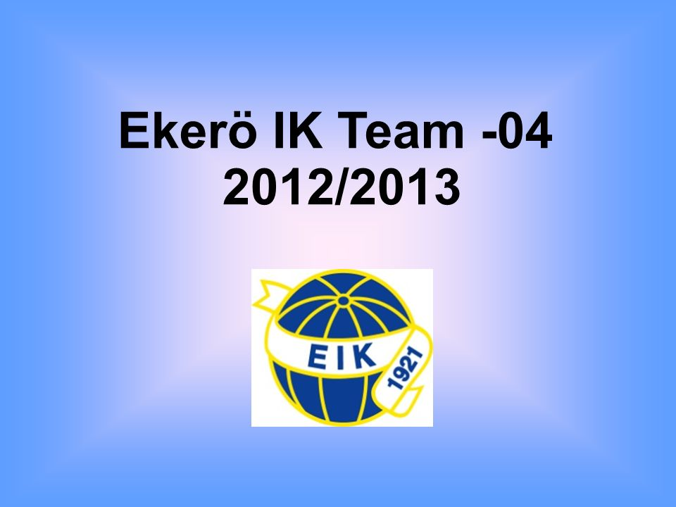 Ekerö IK Team -04 2012/2013