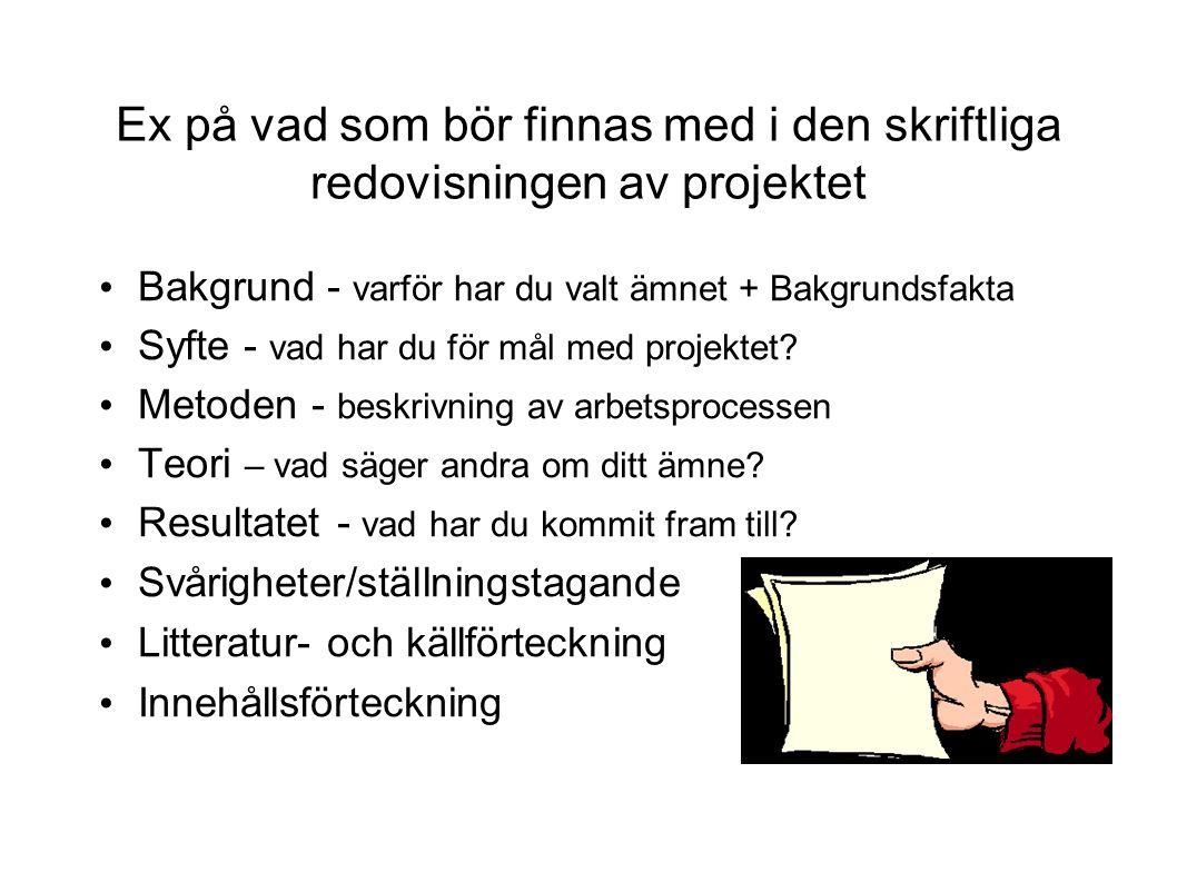 Var hittar man material/fakta.Böcker - Skolbibl, Libris, Stadsbibl.