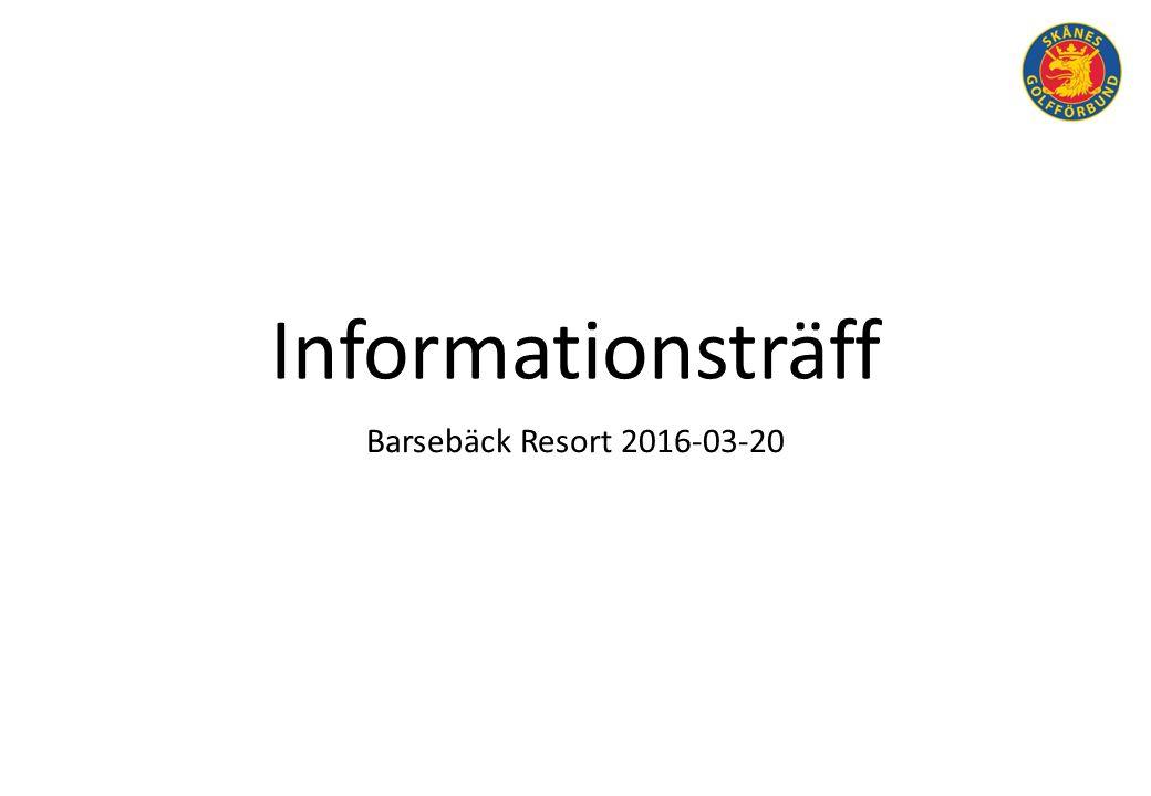 Informationsträff Barsebäck Resort 2016-03-20