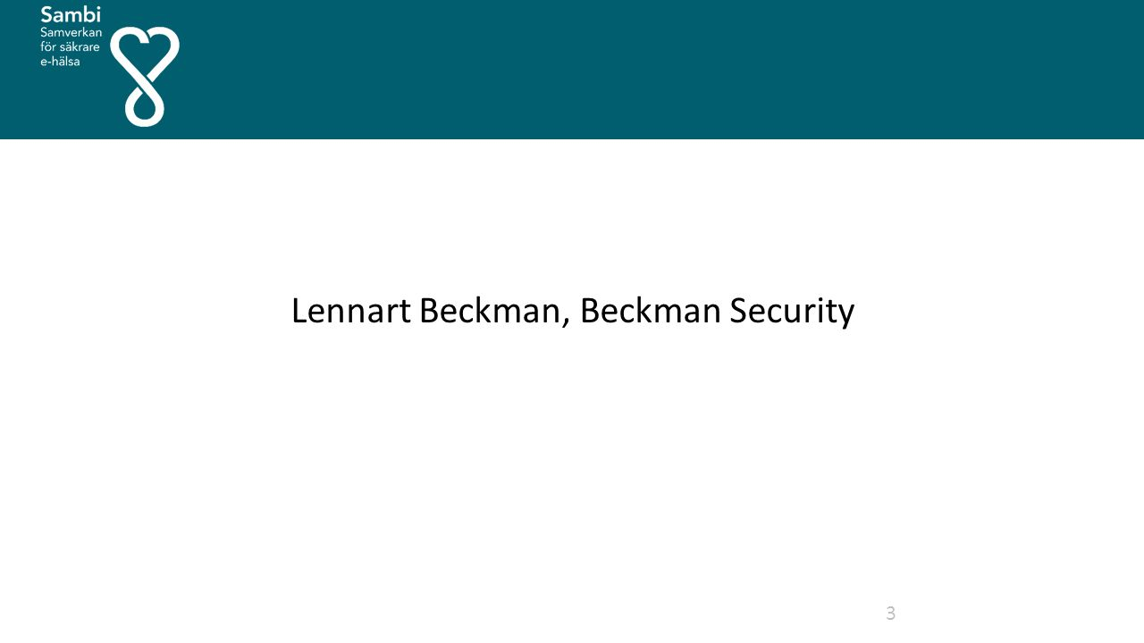 Lennart Beckman, Beckman Security 3