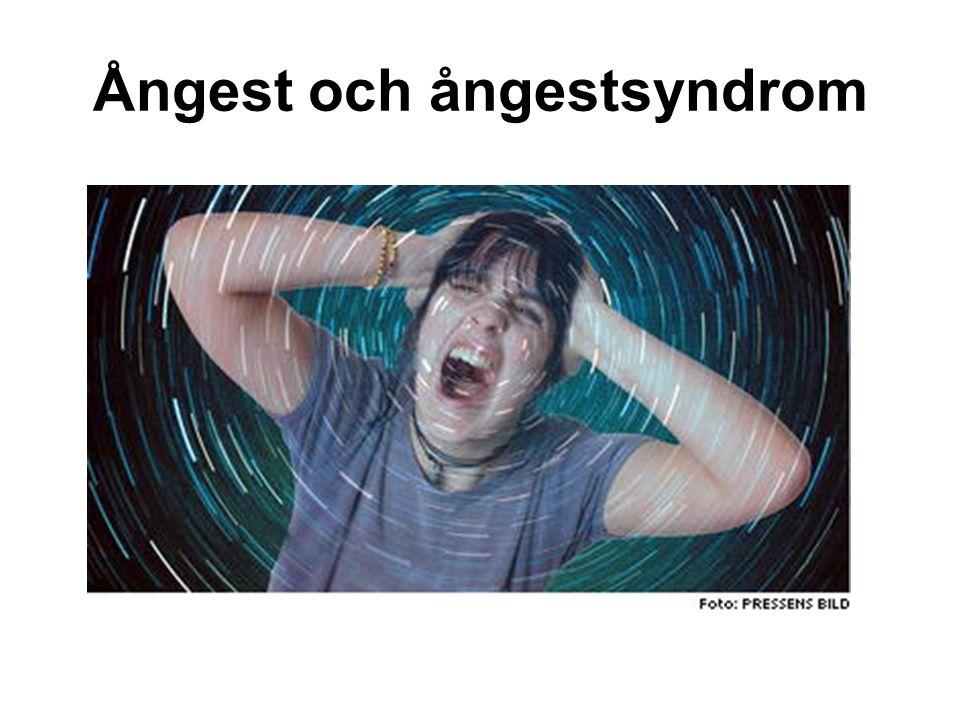 Ångest och ångestsyndrom