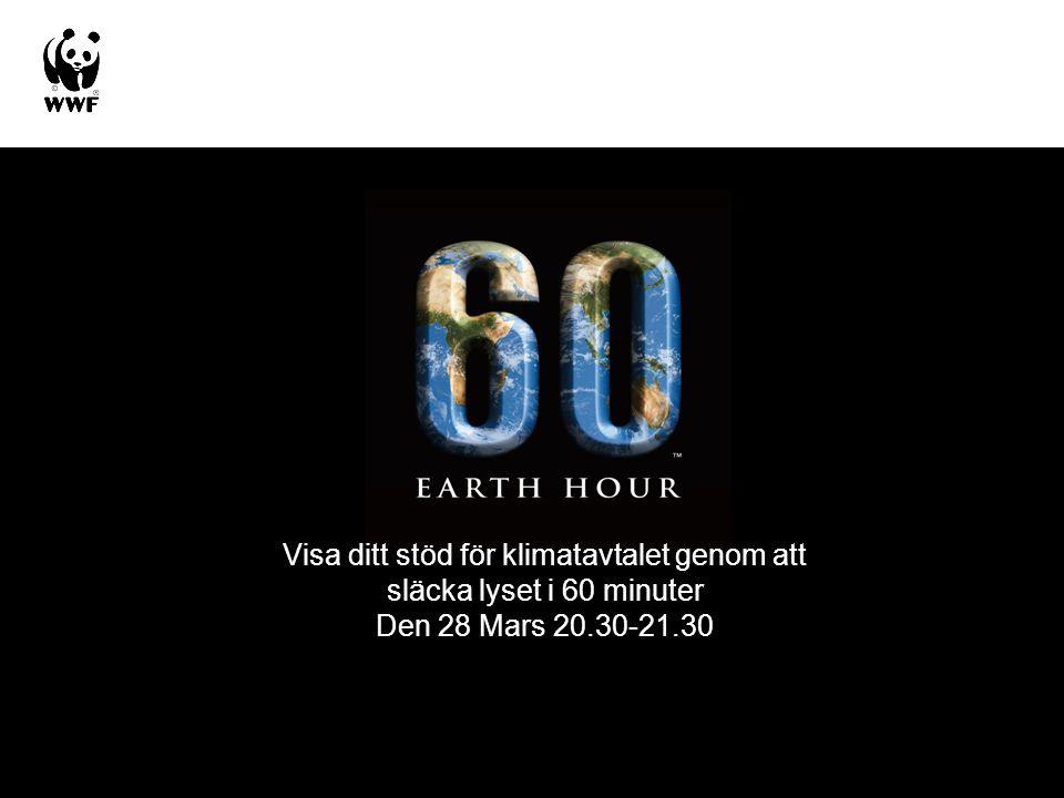 Visa ditt stöd för klimatavtalet genom att släcka lyset i 60 minuter Den 28 Mars 20.30-21.30