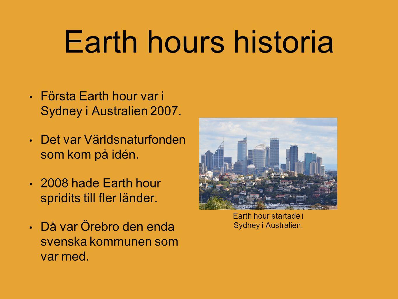 Earth hours historia 2009 hade Earth hour blivit jättestor.