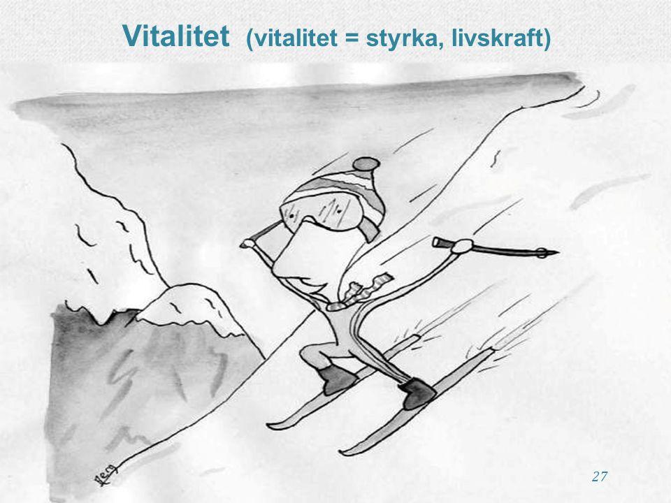 27 Vitalitet (vitalitet = styrka, livskraft)