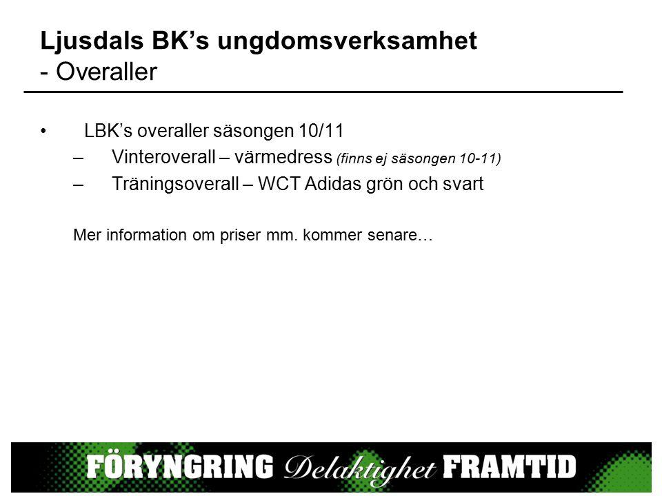 LBK's overaller säsongen 10/11 –Vinteroverall – värmedress (finns ej säsongen 10-11) –Träningsoverall – WCT Adidas grön och svart Mer information om priser mm.