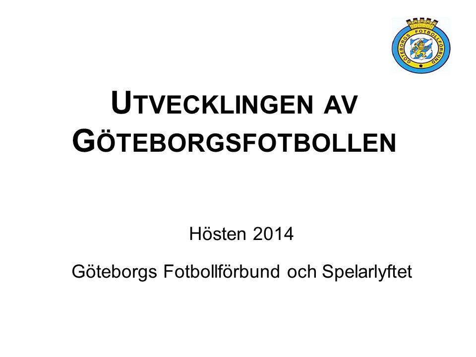 U TVECKLINGEN AV G ÖTEBORGSFOTBOLLEN Hösten 2014 Göteborgs Fotbollförbund och Spelarlyftet