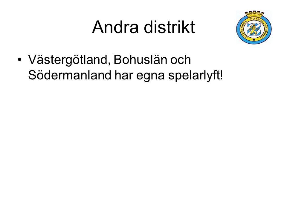 Andra distrikt Västergötland, Bohuslän och Södermanland har egna spelarlyft!