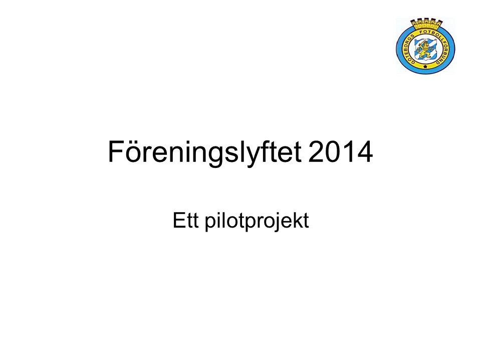 Föreningslyftet 2014 Ett pilotprojekt
