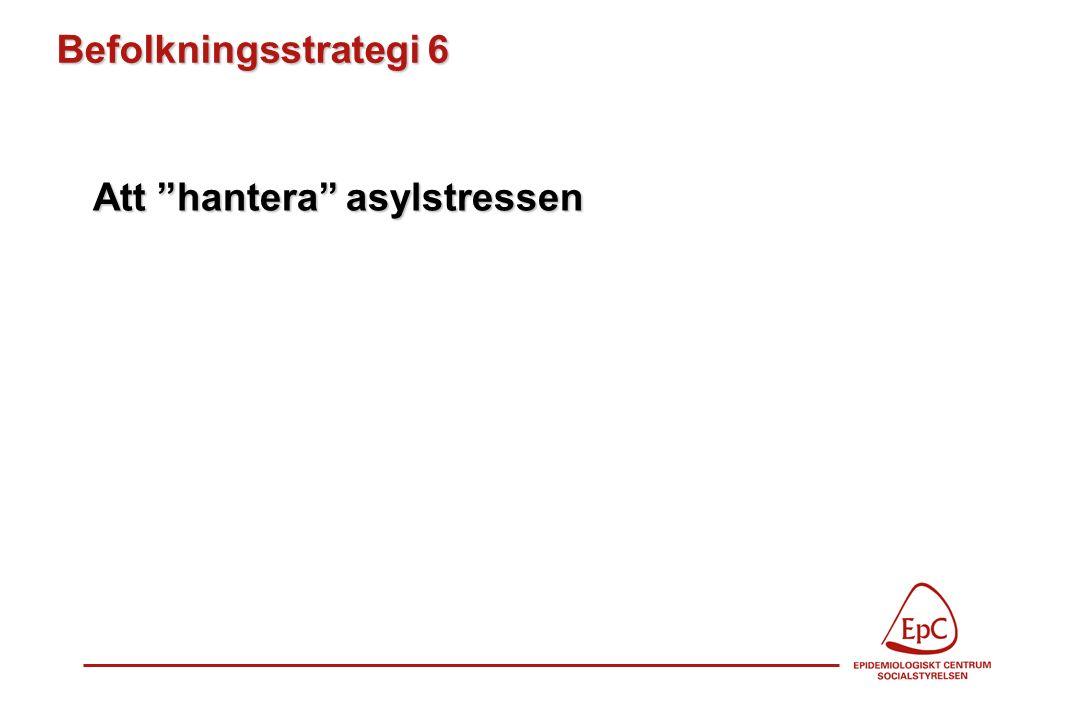 """Befolkningsstrategi 6 Att """"hantera"""" asylstressen"""