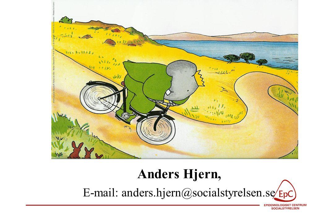 Anders Hjern, E-mail: anders.hjern@socialstyrelsen.se