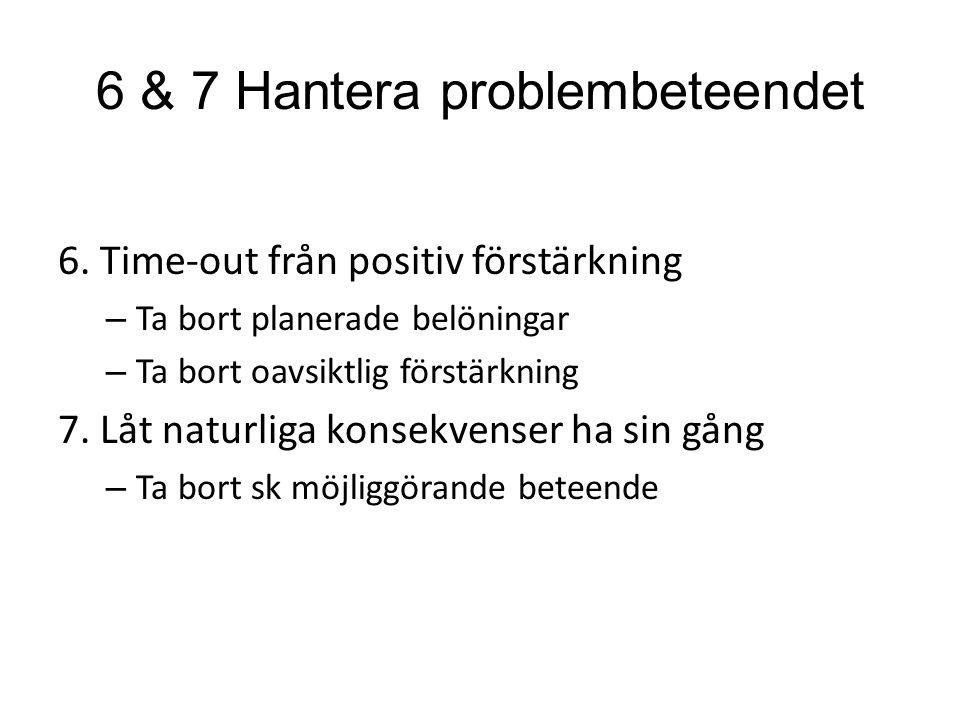 6 & 7 Hantera problembeteendet 6.