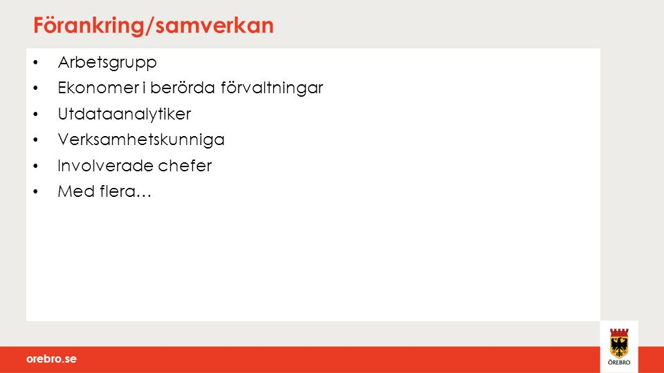 orebro.se Utvärderingsschema