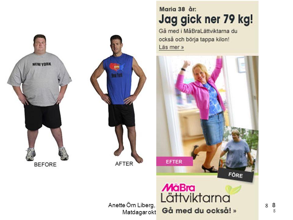 Anette Örn Liberg, Kicki Kyhle Matdagar okt 2015 8 8 8