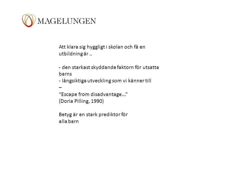 Bo Vinnerljung ( Professor): Registerundersökning: 600.000 personer.