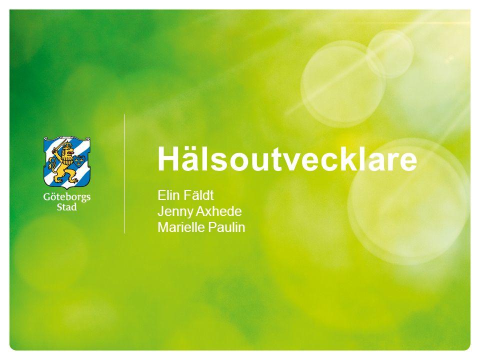 Hälsoutvecklare 2 Start 2014 1 hälsoutvecklare Hjällbo VC 2015 2 hälsoutvecklare Hjällbo VC Angereds VC Angereds läkarhus Lövgärdet VC 2015 sept 3 hälsoutvecklare Hjällbo VC Angereds VC Angereds läkarhus Lövgärdet VC Motiva/ Jobbhörnet IFO 2016 3 Hälsoutvecklare 2 av tjänsterna finansieras av samordningsförbundet 1 tjänst är på SDF angered