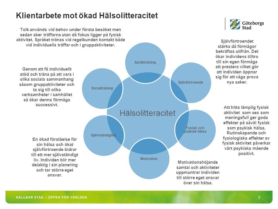 Hälsolitteracitet 4 Förmågan att förvärva, förstå och använda information för att bibehålla och främja hälsa.