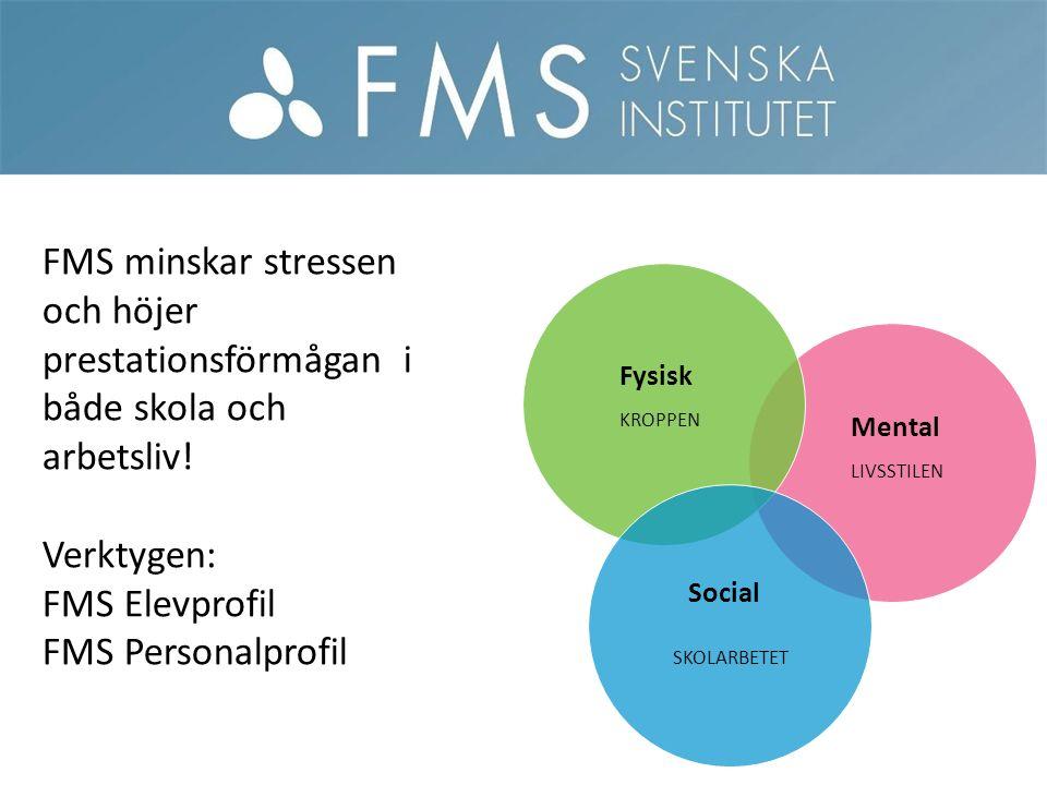 Mental Fysisk Social FMS minskar stressen och höjer prestationsförmågan i både skola och arbetsliv.