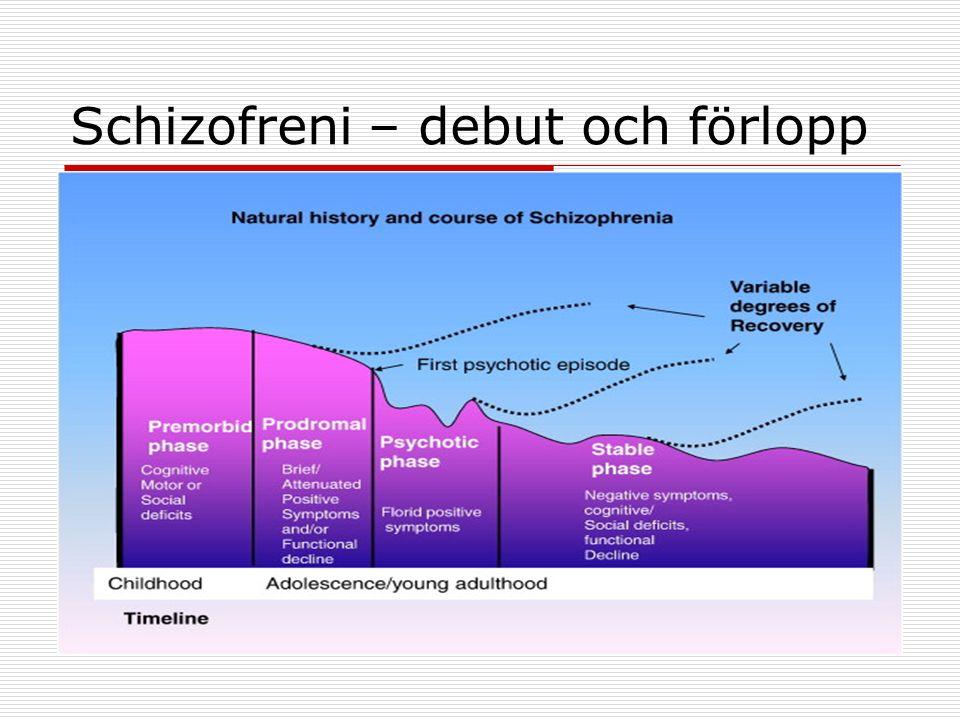 Schizofreni – debut och förlopp