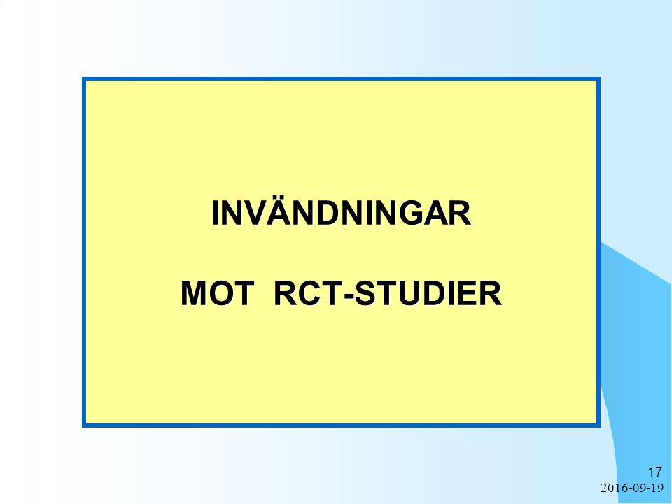 2016-09-19 17 INVÄNDNINGAR MOT RCT-STUDIER