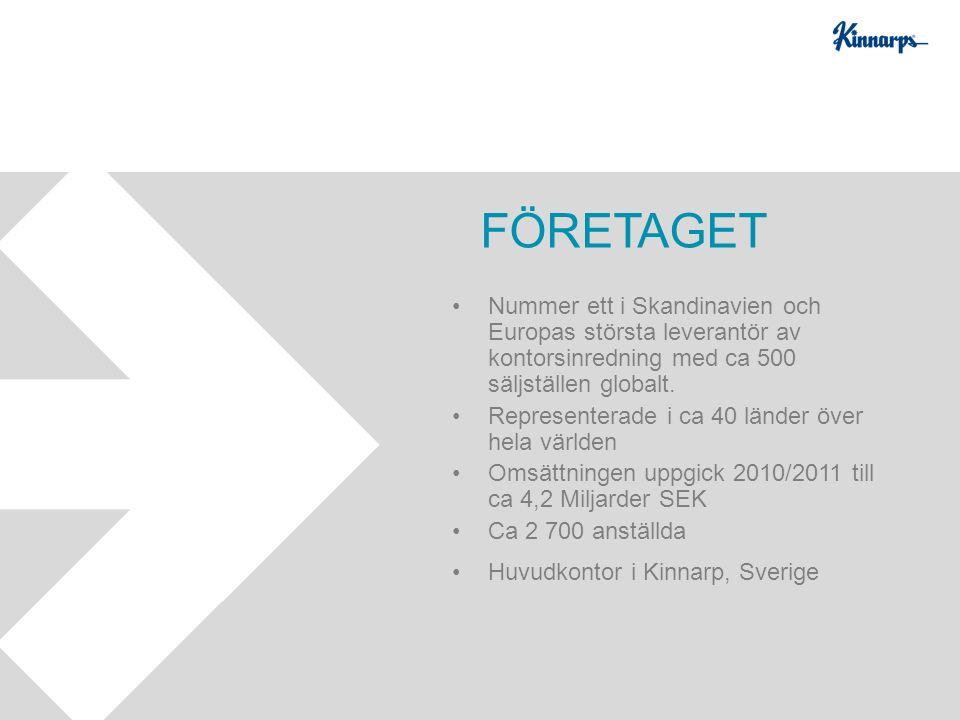 Nummer ett i Skandinavien och Europas största leverantör av kontorsinredning med ca 500 säljställen globalt. Representerade i ca 40 länder över hela v