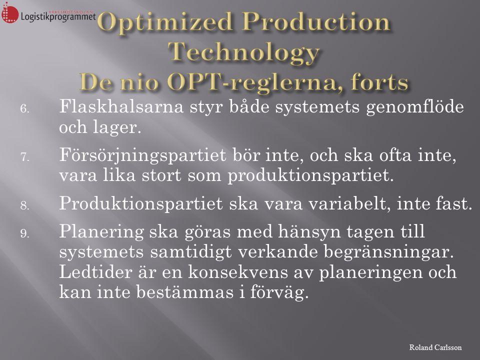 Roland Carlsson 6. Flaskhalsarna styr både systemets genomflöde och lager.