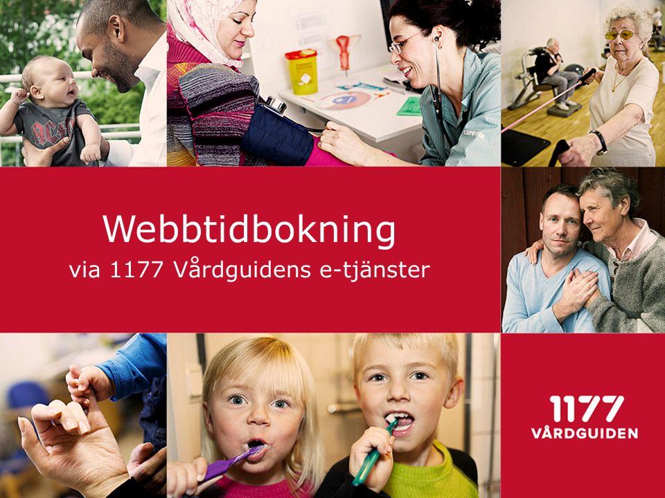 Webbtidbokning via 1177 Vårdguidens e-tjänster