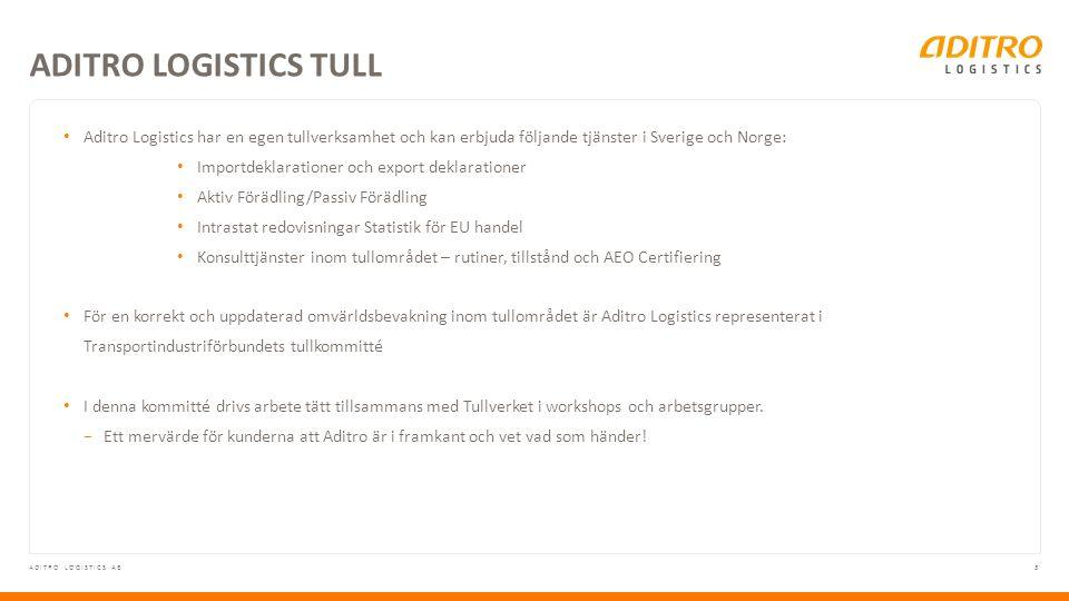 4ADITRO LOGISTICS AB HANDEL MED NORGE Norge är i dag en stor handelspartner till Sverige, och står för ca 40 % av de varor svenska e-handlare säljer till utlandet.