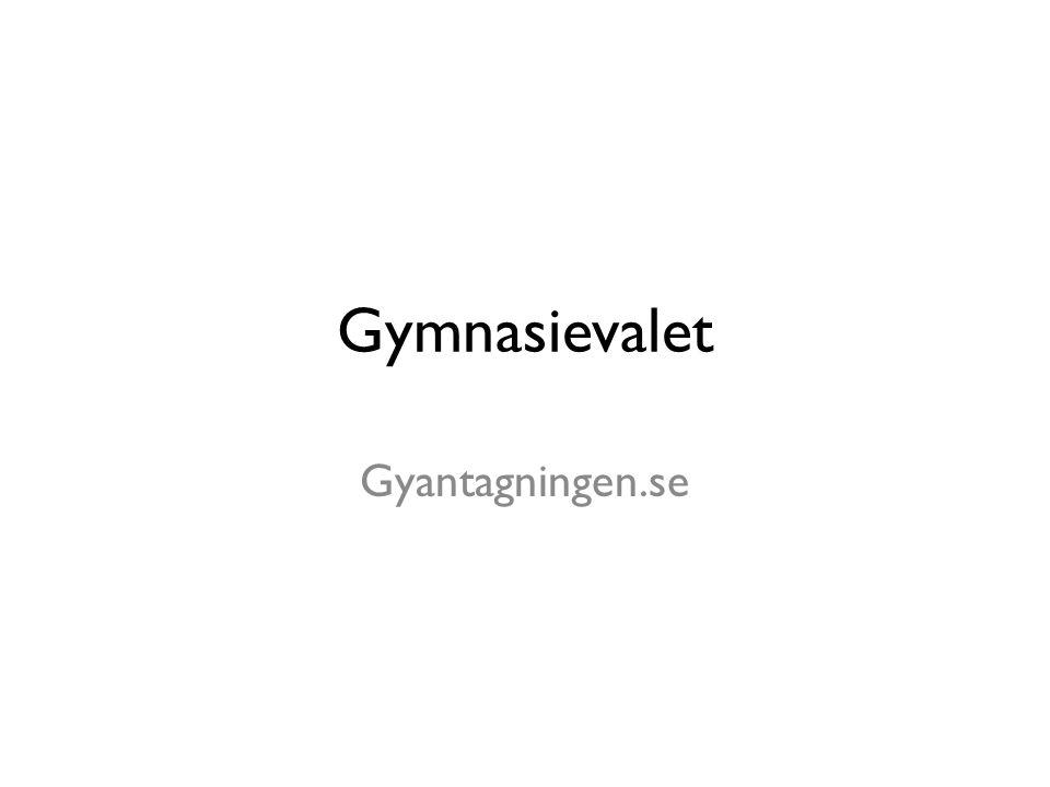 Gymnasievalet Gyantagningen.se