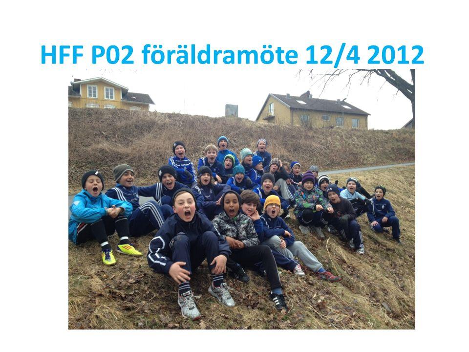 HFF P02 – föräldrar Ställ upp vid match /träning men tänk på att det är ledarna som ansvarar för laget.
