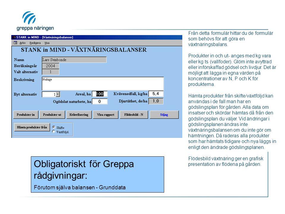 Från detta formulär hittar du de formulär som behövs för att göra en växtnäringsbalans.