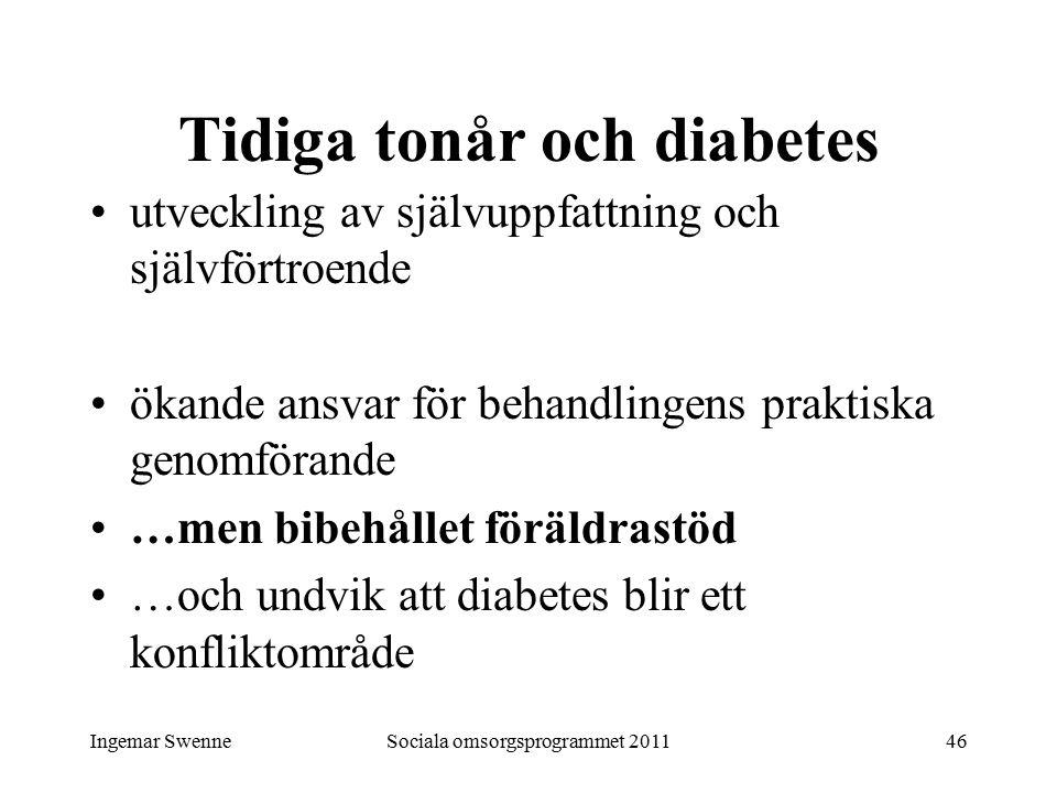 Ingemar SwenneSociala omsorgsprogrammet 201146 Tidiga tonår och diabetes utveckling av självuppfattning och självförtroende ökande ansvar för behandli