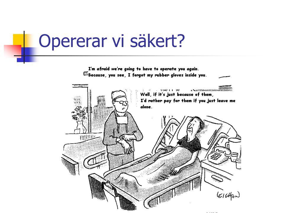 Ställer vi operations- indikationen säkert?