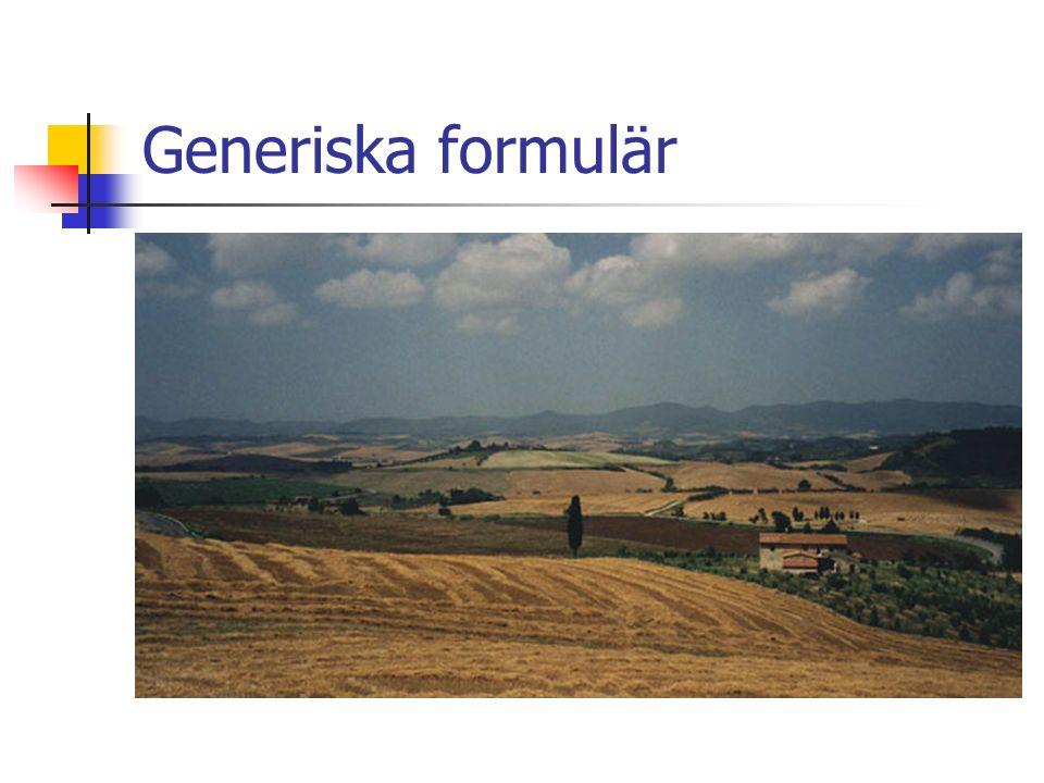 Generiska formulär