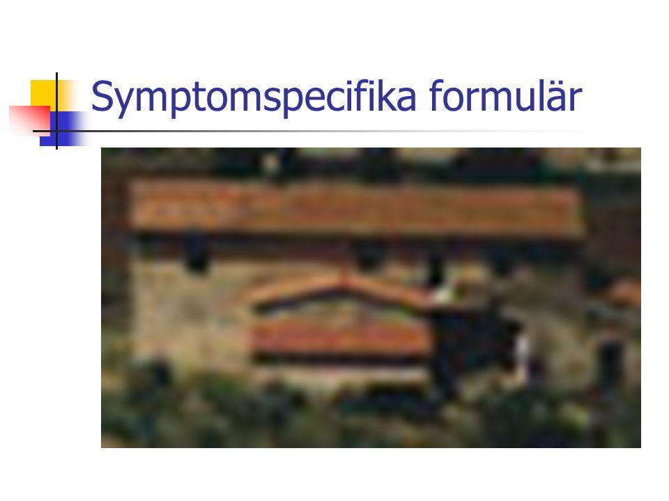 Symptomspecifika formulär