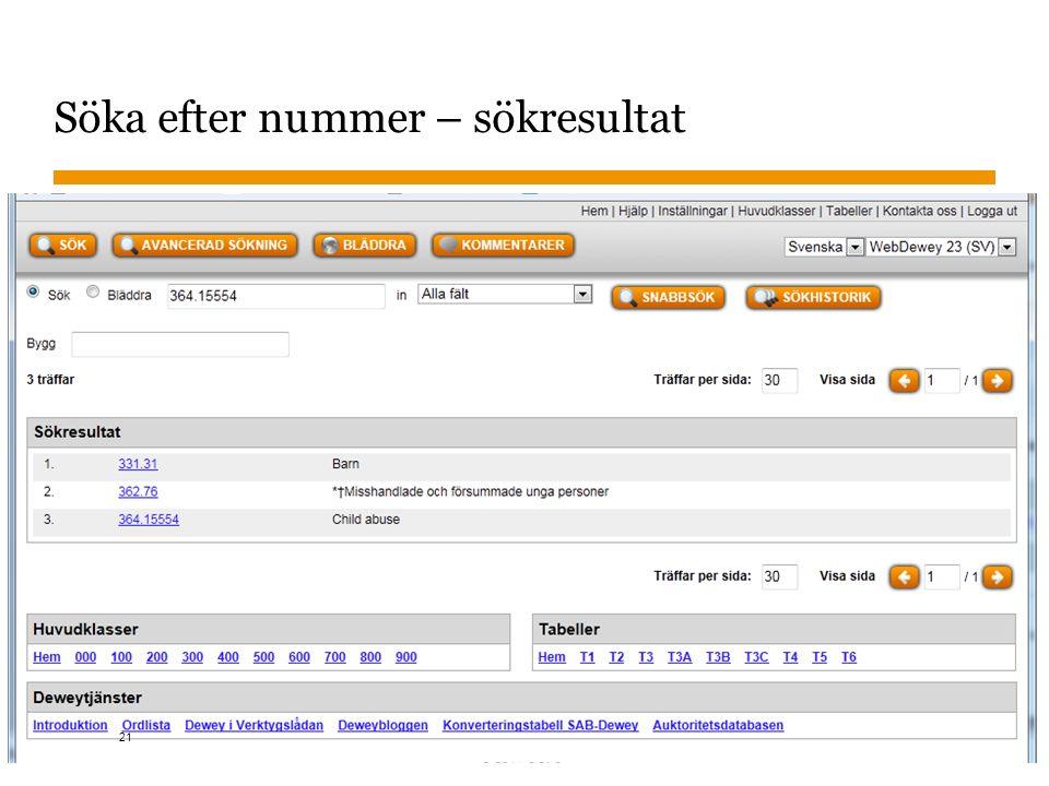 Sidnummer Söka efter nummer – sökresultat 2015-11-02 21