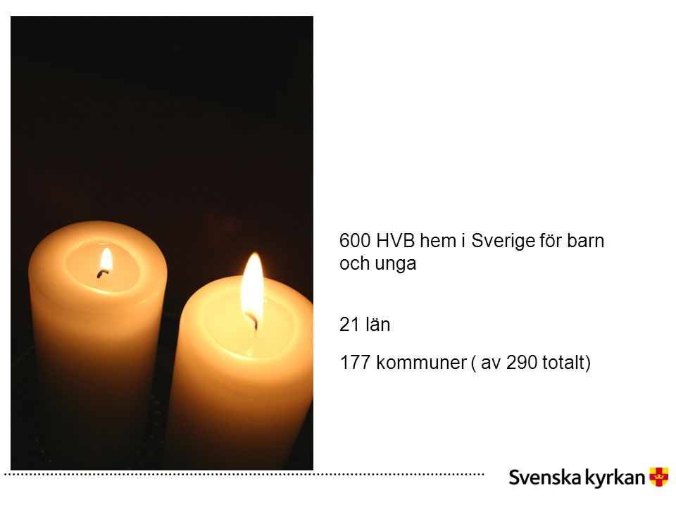 600 HVB hem i Sverige för barn och unga 21 län 177 kommuner ( av 290 totalt)