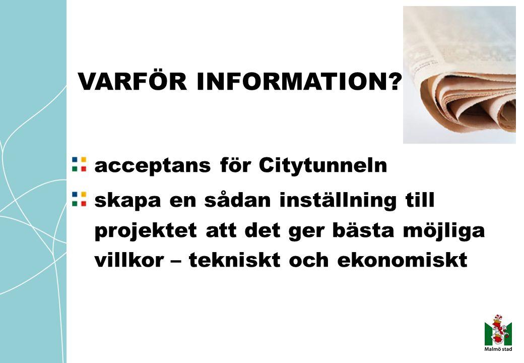 VARFÖR INFORMATION.