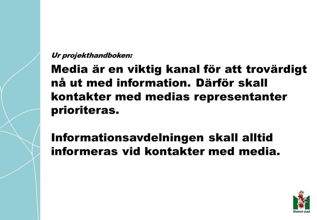 Media är en viktig kanal för att trovärdigt nå ut med information.