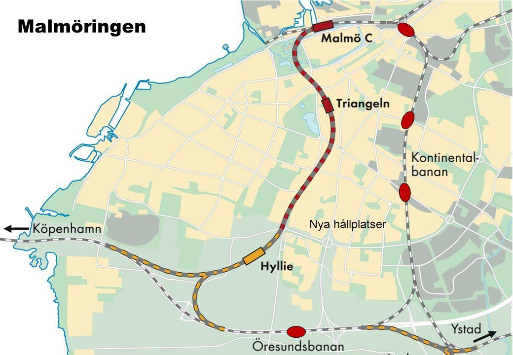 201 0- 11- 12/ AM E/IN FO Malmöringen Nya hållplatser