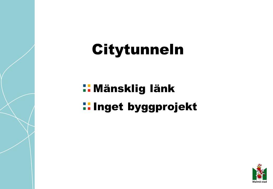 Citytunneln Mänsklig länk Inget byggprojekt