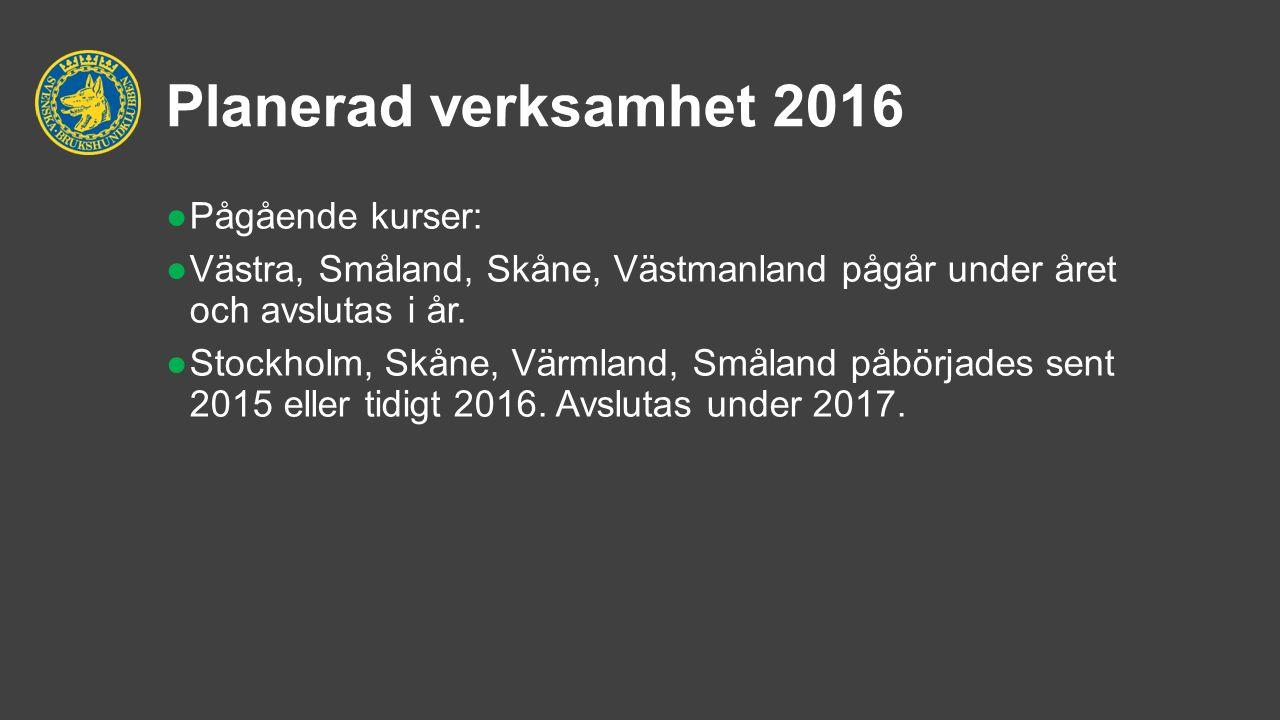Planerad verksamhet 2016 ●RI-träningar: ●Uttagning MRT: ●MRT: