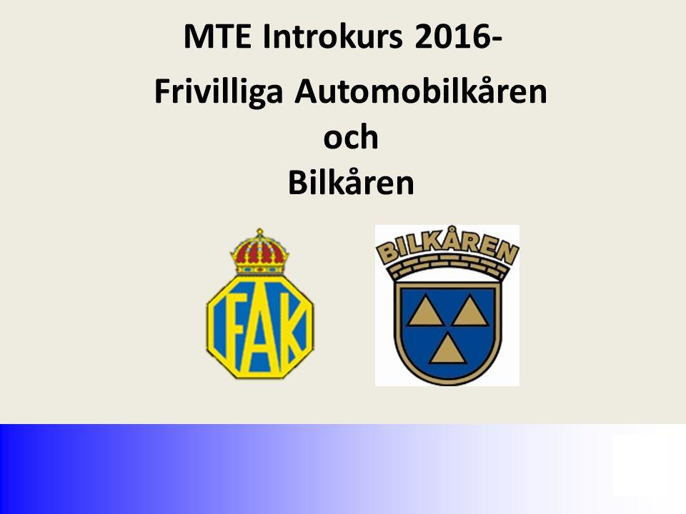 Frivilliga Automobilkåren och Bilkåren MTE Introkurs 2016-