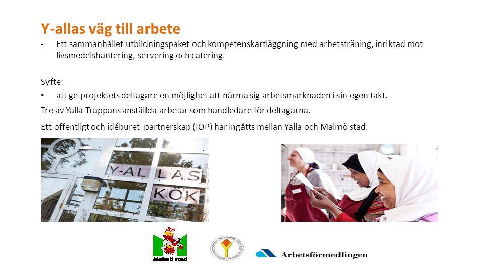 Y-allas väg till arbete -Ett sammanhållet utbildningspaket och kompetenskartläggning med arbetsträning, inriktad mot livsmedelshantering, servering och catering.