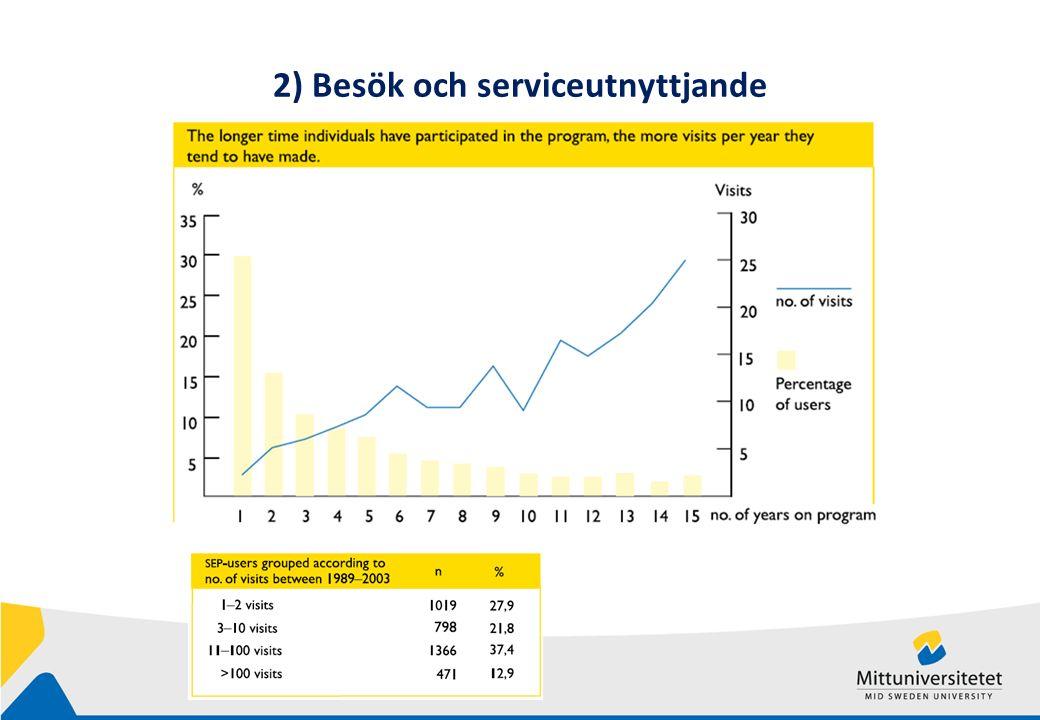 2) Besök och serviceutnyttjande