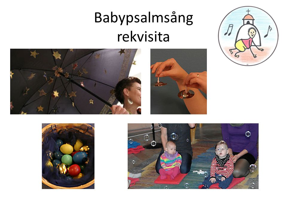 Babypsalmsång rekvisita