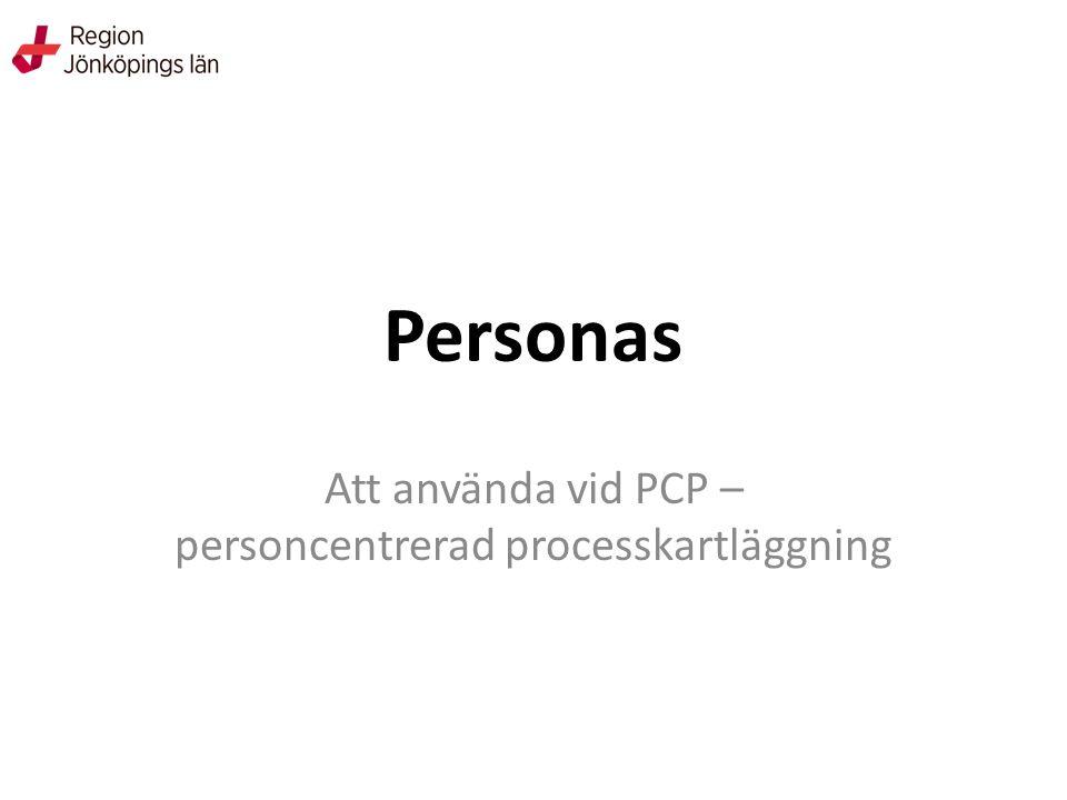 Personas Att använda vid PCP – personcentrerad processkartläggning