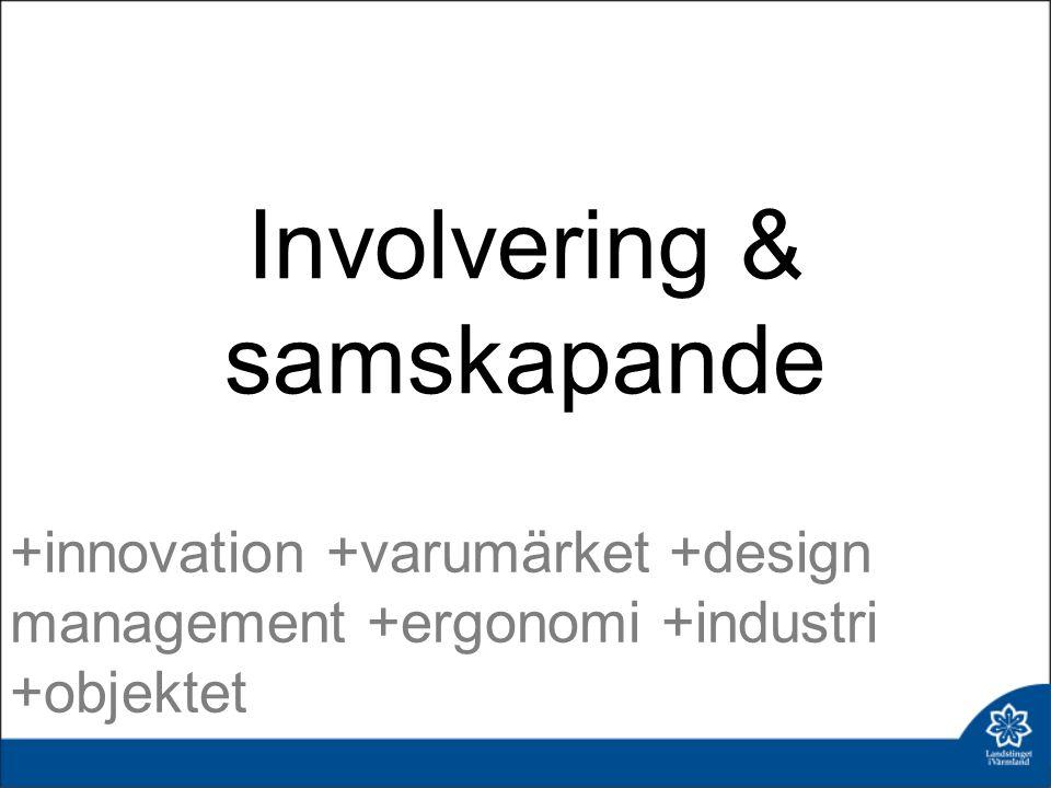 Involvering & samskapande +innovation +varumärket +design management +ergonomi +industri +objektet