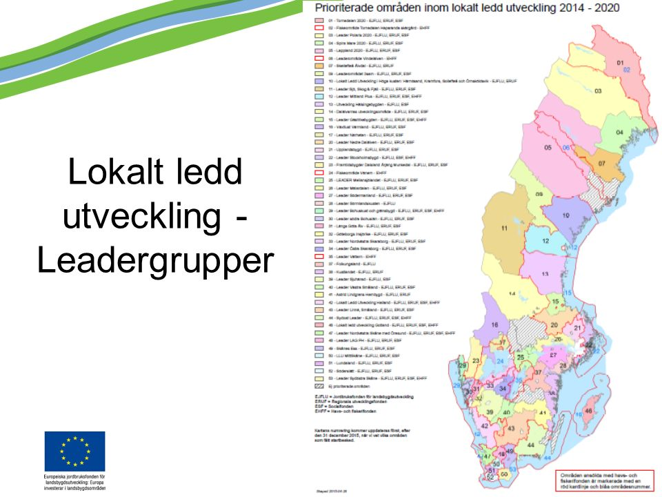 Lokalt ledd utveckling - Leadergrupper